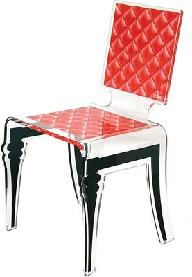 Padded Effect Glossy Acrylic Chair image 5