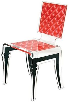 Padded Effect Glossy Acrylic Chair image 6
