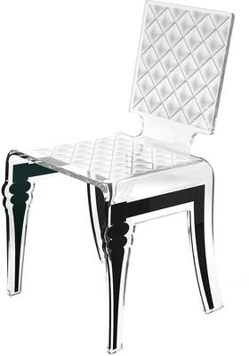 Padded Effect Glossy Acrylic Chair image 7