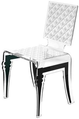 Padded Effect Glossy Acrylic Chair image 8