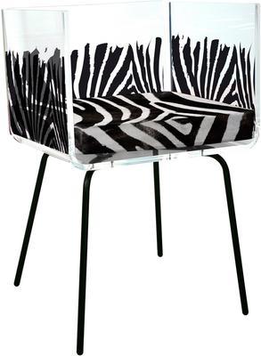 Acrylic Zebra Box Chair