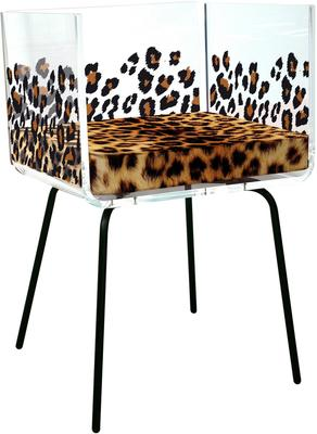 Acrylic Leopard Box Chair