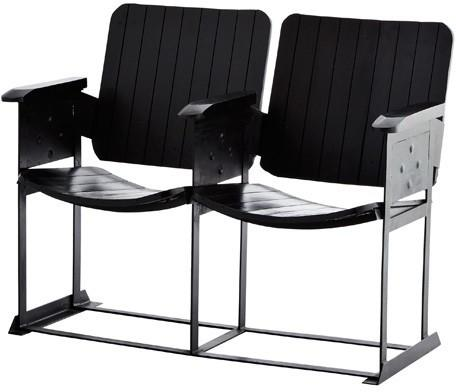 Cinema Chair - Set of 2 - Wooden and Metal image 2