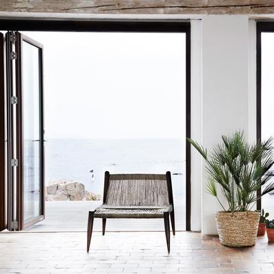 Wrap Woven Jute Low Chair Minimalist Design