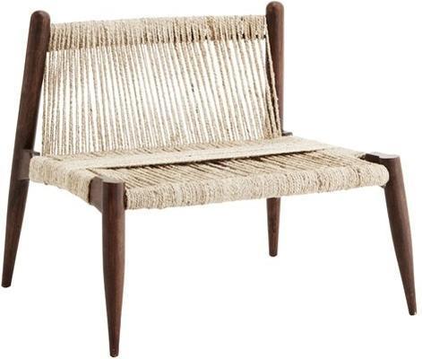 Wrap Woven Jute Low Chair Minimalist Design image 2