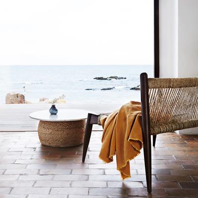 Wrap Woven Jute Low Chair Minimalist Design image 4