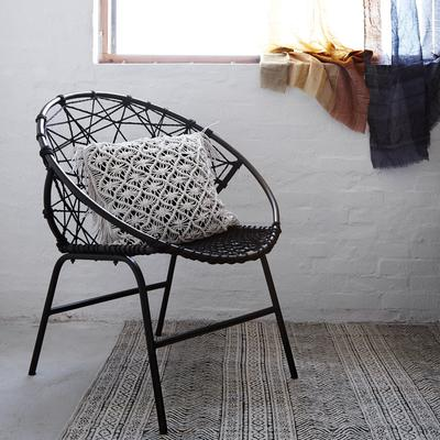 Circular Rope Chair with Metal Frame