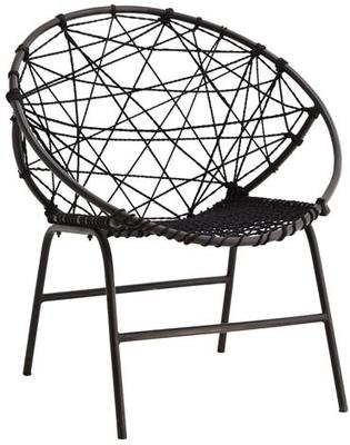 Circular Rope Chair with Metal Frame image 2
