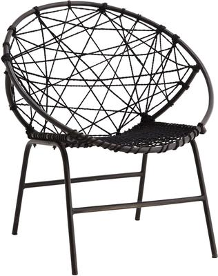 Circular Rope Chair with Metal Frame image 3