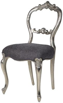 French Open Back Chair Antiqued Silver image 2