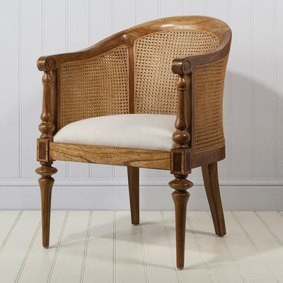 Spire Vintage Walnut Wooden Bedroom Chair image 2