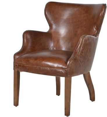 Havana Brown Leather Chair