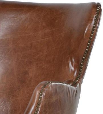 Havana Brown Leather Chair image 2