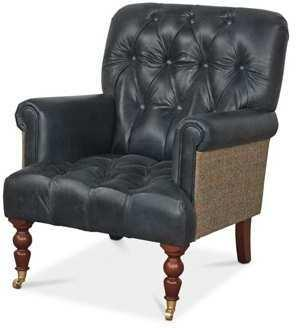 Vintage Leather Imperial Buttoned Armchair image 2