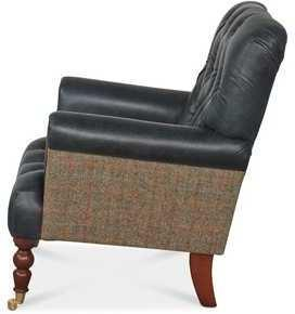 Vintage Leather Imperial Buttoned Armchair image 3