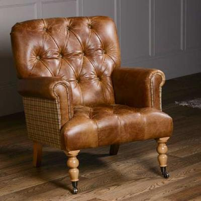 Vintage Leather Imperial Buttoned Armchair image 17