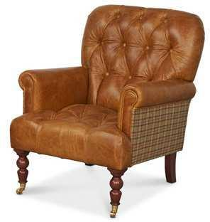 Vintage Leather Imperial Buttoned Armchair image 49