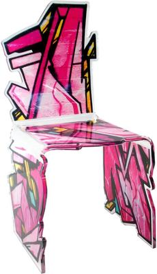 Acrylic Graffiti Bolt Chair Glossy