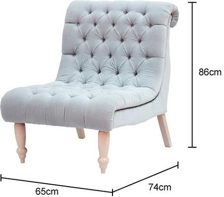 Buttoned Velvet Comfort Chair image 2