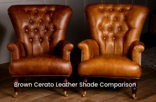 Wing Diamond Button Armchair Leather, Wool or Tweed image 4