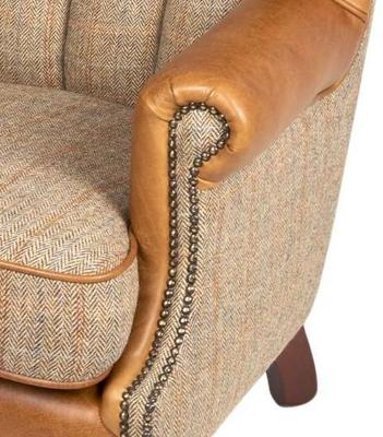 Fluted Wing Armchair Leather, Wool or Tweed image 3