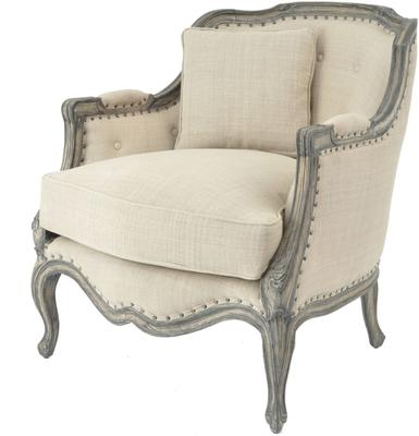 Roxborough Mindi Old Wood Armchair Pearl Upholstery