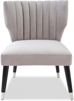 Agatha Velvet Occasional Chair - Grey, Black or Beige image 14
