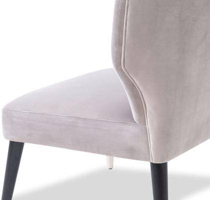 Agatha Velvet Occasional Chair - Grey, Black or Beige image 16