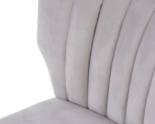 Agatha Velvet Occasional Chair - Grey, Black or Beige image 17