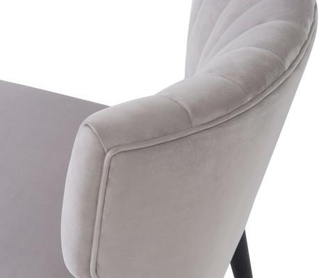 Agatha Velvet Occasional Chair - Grey, Black or Beige image 12