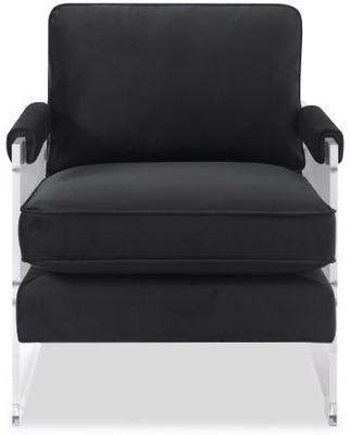 Roxy Contemporary Occasional Chair - Black or Beige Fabric image 2