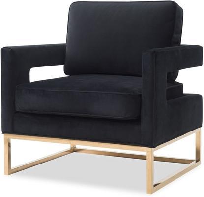 Altro Velvet Angular Occasional Chair