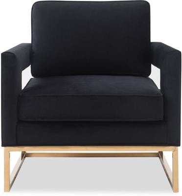 Altro Velvet Angular Occasional Chair image 2
