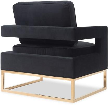 Altro Velvet Angular Occasional Chair image 3
