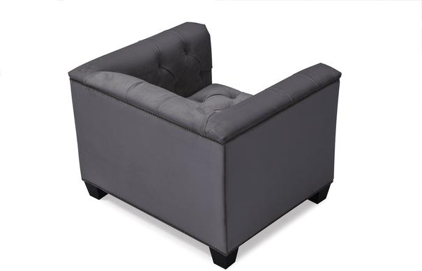 Monroe Occasional Buttoned Armchair Grey or Blue image 3