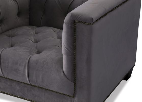 Monroe Occasional Buttoned Armchair Grey or Blue image 4