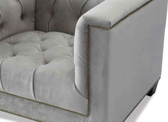 Monroe Occasional Buttoned Armchair Grey or Blue image 7