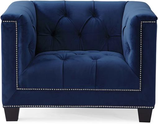 Monroe Occasional Buttoned Armchair Grey or Blue image 8