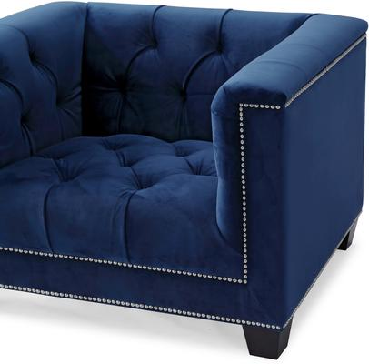 Monroe Occasional Buttoned Armchair Grey or Blue image 10
