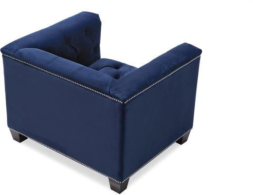 Monroe Occasional Buttoned Armchair Grey or Blue image 11