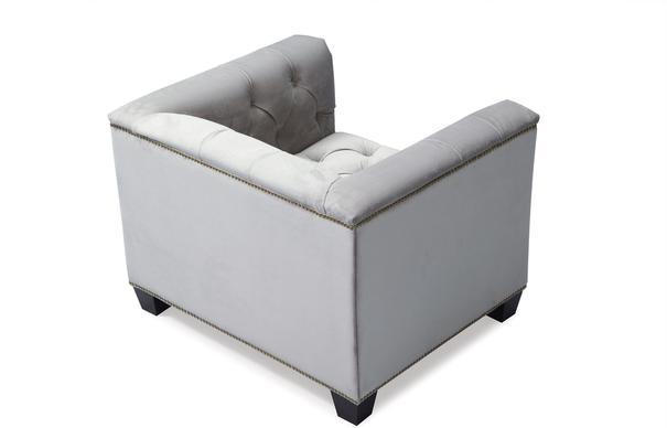 Monroe Occasional Buttoned Armchair Grey or Blue image 12