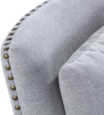 Cole Occasional Chair Slate Linen Wenge Legs image 5
