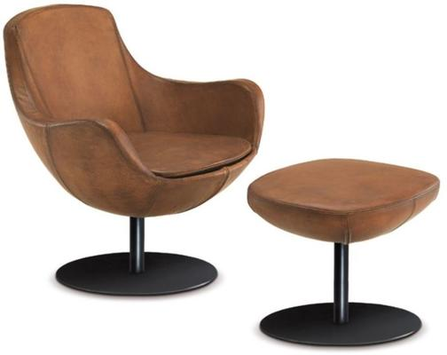 Luna lounge chair and stool