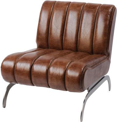 Tamworth Brown Leather Retro Occasional Chair
