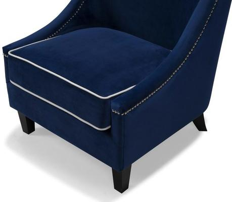 Elger Blue Velvet Occasional Chair image 2