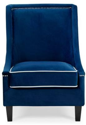 Elger Blue Velvet Occasional Chair image 3
