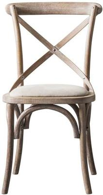 Crossback Black Chair with Canvas Seat image 4