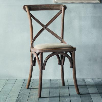 Crossback Black Chair with Canvas Seat image 5