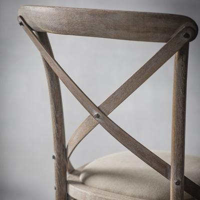Crossback Black Chair with Canvas Seat image 6