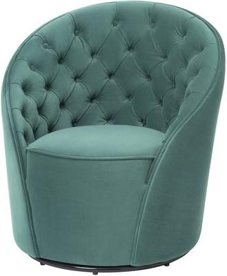 Chelsea Buttoned Green Swivel Chair image 7